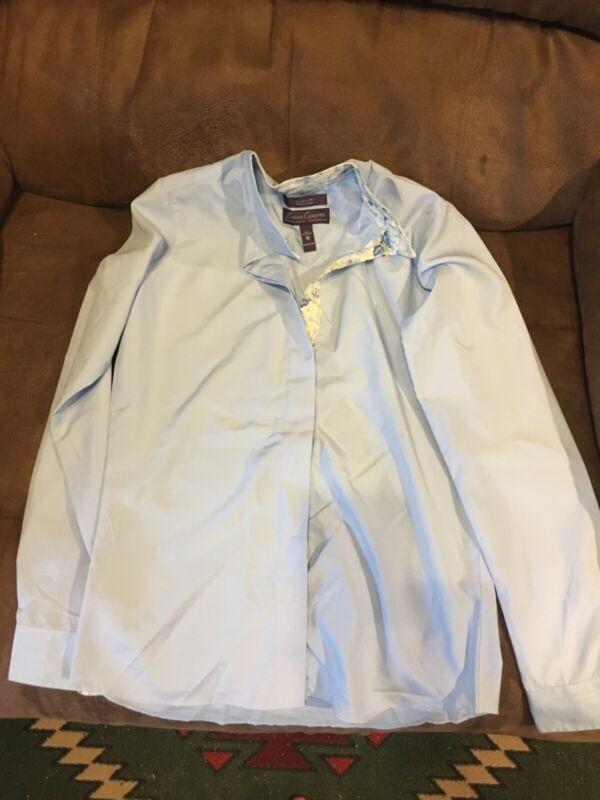 Blue english show shirt size 18