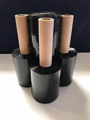 4 Rolls Black Stretch Plastic Wrap 5 X 1000 X 80ga Stretch Wrap Stretch Film