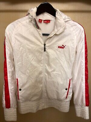 Womens Puma Scuderia Ferrari White Jacket Large