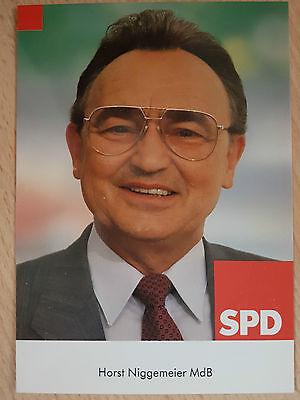 AK o.AG Horst Niggemeier Politik SPD ex. MDB + verstorben Rarität!