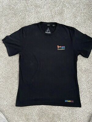 Mens O'Neill Black t-shirt medium graphic on back
