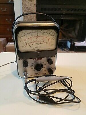 Vintage Philco 6110 Vacuum Tube Voltmeter. Vtvm. W Probes. Working. Great Cond.