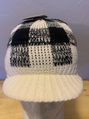 05c770eb90f8 BULA MALCOM CAP SKI SNOWBOARD WINTER KNIT BEANIE HAT BLACK WHITE CHECKERED