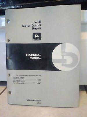 John Deere 570b Motor Grader Technical Service Repair Manual