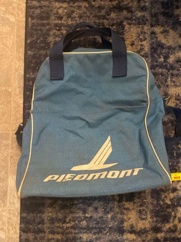 Vintage Piedmont Airlines Shoulder Bag Blue Lightweight Canvas Carry On Strap