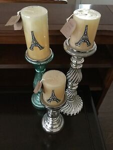 Candle Sticks w/Candles (never lit)