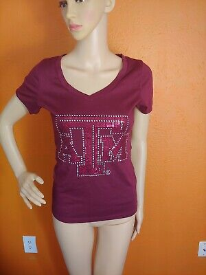 University of Texas A&M Aggies ATM Womens  T-Shirt Small pre-owned Texas A&m University Atm
