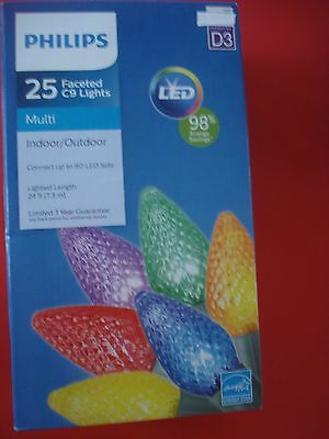 PHILIPS CHRISTMAS FACETED LED STRING LIGHTS MULIT COLOR LIGHTS (Mulit Colored Lights)