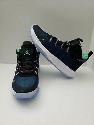 Jordan Jumpman 2020 Men's Basketball Shoes Black/Green /Blue Size 8