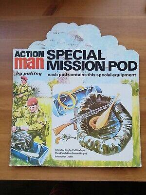 Vintage Action Man Special Mission Pod Shop Display Sign Rare