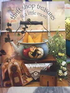 TERRYE FRENCH / Deb Richey:  THRIFT SHOP TREASURES Paint Book -NEW Condition!