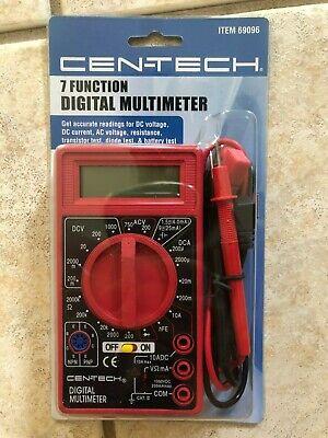 Cen-tech 7 Function Digital Multimeter Model 98025 New In Package