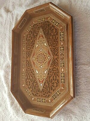 Syrian octagonal mother of pearl tray