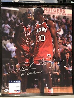 Basketball Sports Mem, Cards & Fan Shop Trustful Billy Owens Syracuse Autographed Sports Illustrated Magazine Coa Orders Are Welcome.