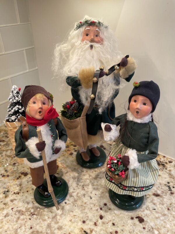 Byers Choice Woodland Santa + Boy & Girl 2010