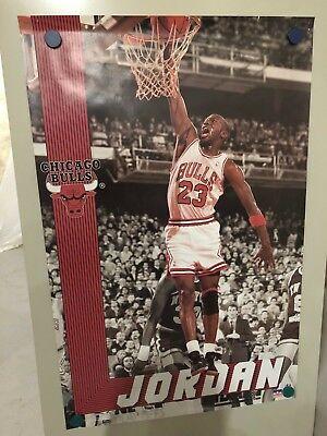 3ccde00edcac Original Vintage Starline Poster Michael Jordan Chicago Bulls Free Shipping!