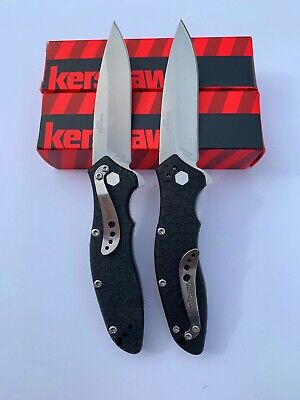 2 Lot KERSHAW Spring ASSISTED KNIFE Speed Safe 1830 LINER-LOCK WITH POCKET CLIP