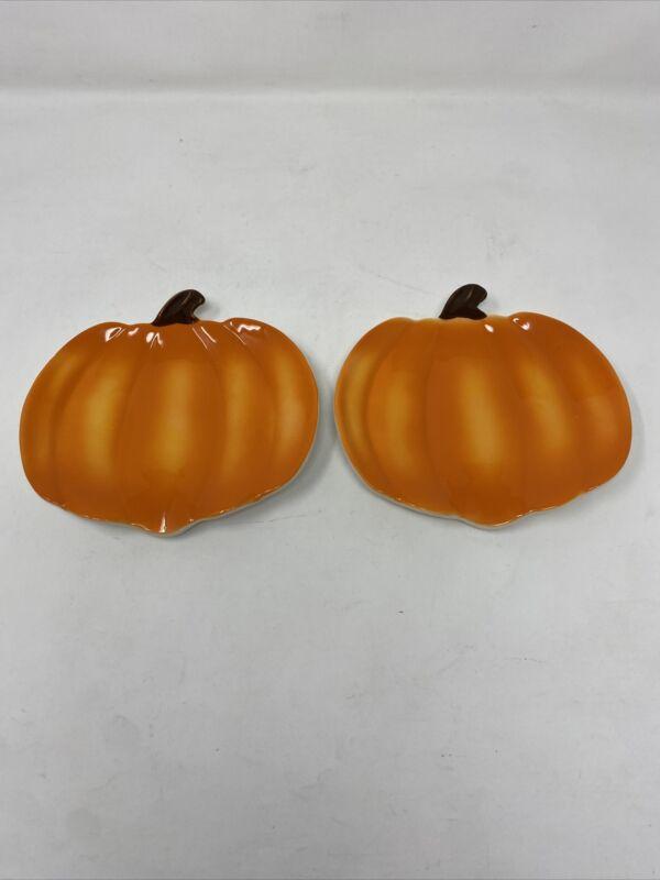 Martha Stewart Collection Small Pumpkin Decorative Pie Plates, Set Of 2