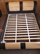 King size leather bed with bed sides  Albion Brimbank Area Preview