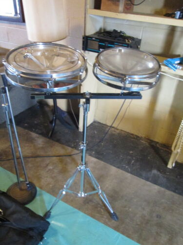 """Remo Rototom vintage 12 & 14"""" rare 2pc Set w/mount and stand tom drum"""