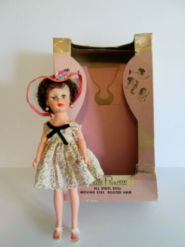 """Vintage Little Princess Vinyl 10"""" Hi-Heel Doll in Box - Marked P in a Circle"""