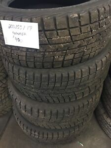 Set of 4, 235/55/17 yokohama ice guard winter tires