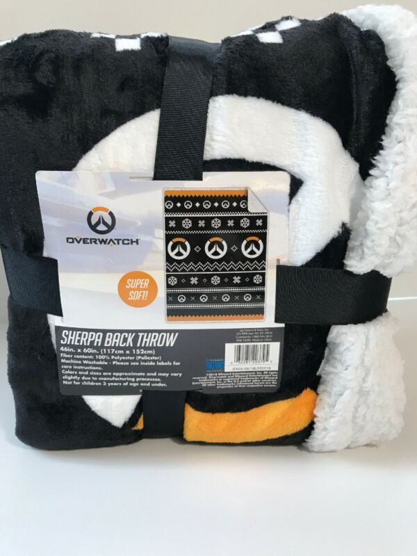 NEW Blizzard OVERWATCH Sherpa Throw Blanket 46 X 60