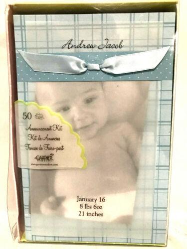 Gartner Studios Baby Boy Announcement Kit of 50