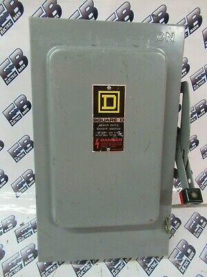 Square D Hu461 Series E 30 Amp 600 Volt 4p Disconnect
