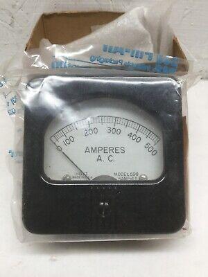 Hoyt 598 Panel Meter 0-500 Ac Amperes Amps