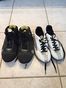 Converse basketball shoes and Umbro indoor soccer shoes