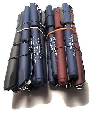 20 Misprint Gel Ink Pen W Cap W Rubber Grip Black Ink Tested Assorted Colors