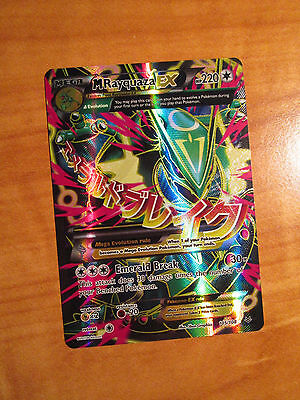 NM FULL ART Pokemon Mega M RAYQUAZA EX Card ROARING SKIES Set 105/108 Ultra Rare