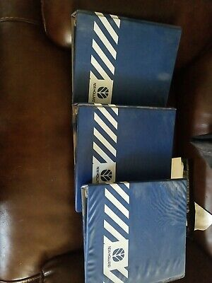 3 New Holland Tractor Machinery 3-ring Parts Service Manual Binder 2 Blue Empty