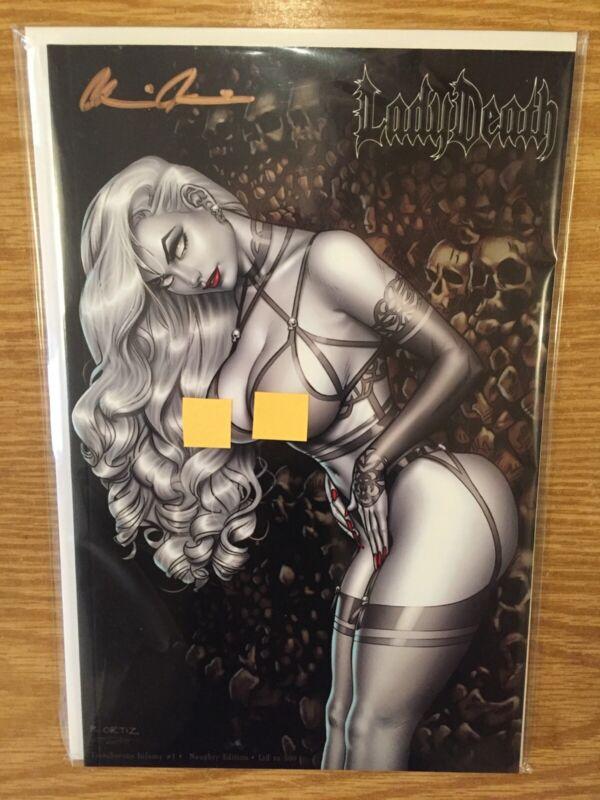 Lady Death Treacherous Infamy #1 Naughty Edition Richard Ortiz Pulido Signed COA