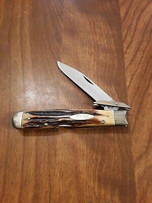 CASE XX 4 DOT 1976 RAZOR EDGE FAT SAMBAR STAG CHEETAH KNIFE 5111 1/2L SSP