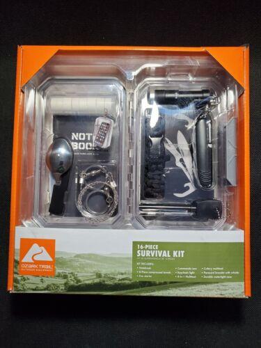 OZARK TRAIL 16 Piece Survival Kit for Car Camping Hiking Eme