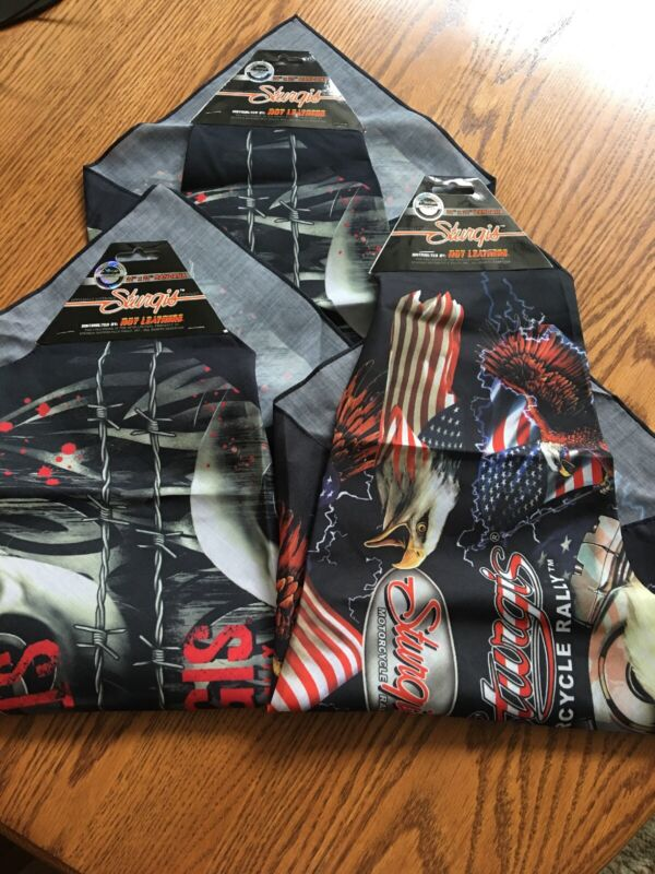 Sturgis Motorcycle Rally Bandannas Lot Of 3