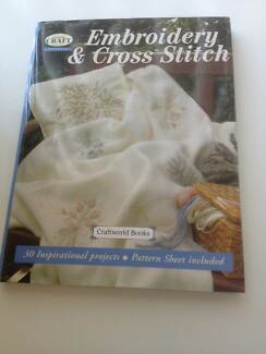 EMBROIDERY & CROSS STITCH - hardcover pick up Davistown Davistown Gosford Area Preview