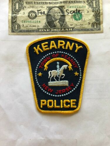 Kearny New Jersey Police Patch un-sewn Great Shape