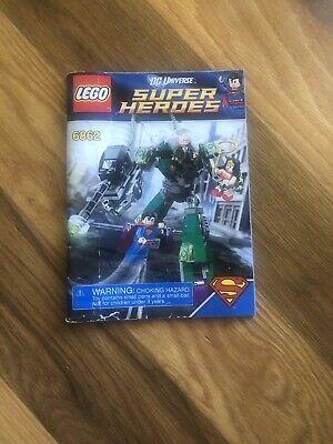 Lego 6862 INSTRUCTION BOOK: Superman vs Power Armour Lex * BOOK ONLY, NO LEGO