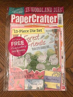 Papercrafter Magazine 128 Forest Friends Woodland Dies Squirrel Bunny Hedgehog