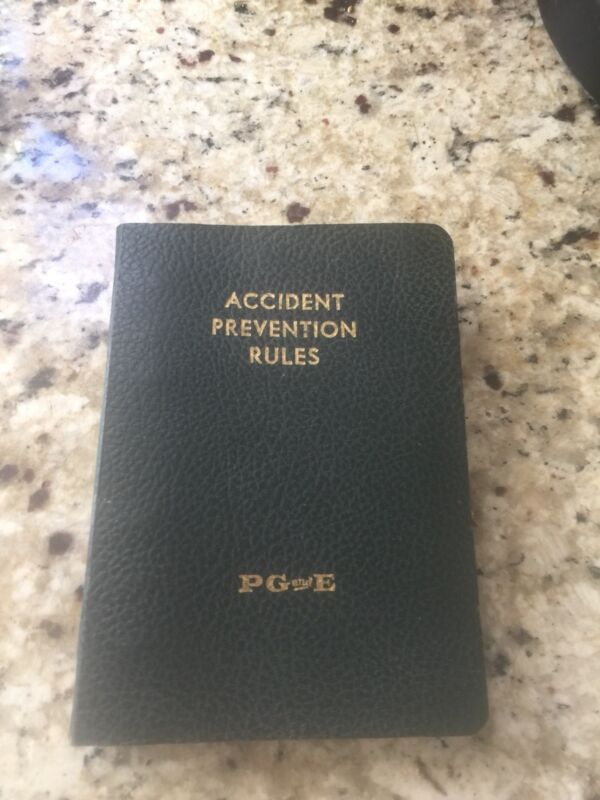 Vintage PG&E Accident Prevention Rules Manual - (Circa 1980)
