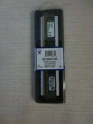 Kingston Technology 4GB 1600MHz PC3-12800 240-Pin Single Rank DIMM Memory  Kingston Technology Dimm Memory
