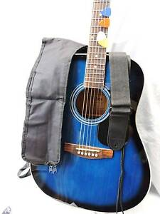 NEW. DELUXE PACK Sanchez Full Size Steel String Blueburst Burwood Whitehorse Area Preview