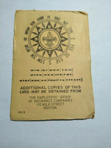 Boy Scouts of America Morse Code Card 1950s