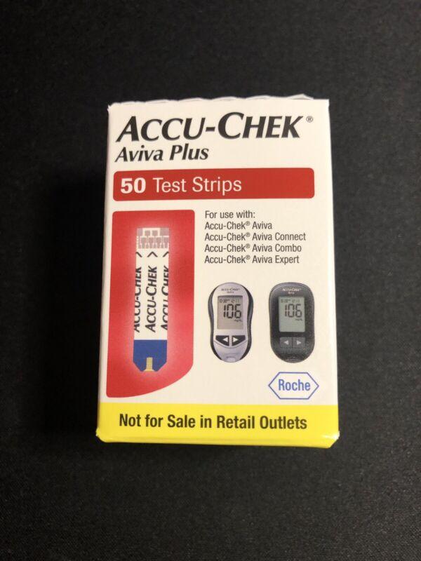 Accu-Chek Aviva Plus Diabetic Test Strips Expire 06/30/2020+ Free Shipping