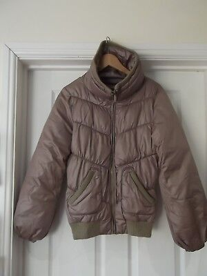 Puffa Jacket by HOUSE Bronze/Gold Metallic Winter Coat with Full Zip Size Medium Winter Full House