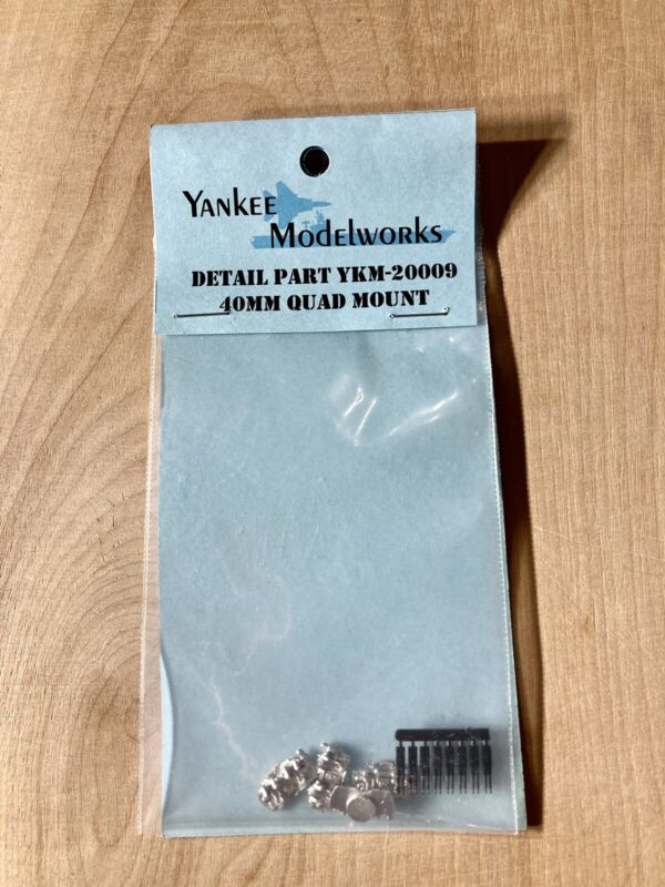Yankee Modelworks 40mm Quad Mount YKM-20009 Ship Parts New-Sealed