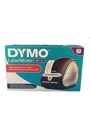 Dymo Labelwriter 450 Turbo Monochrome Direct Thermal Label Printer Black